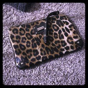 Express cheetah leopard print clutch/ make-up bag